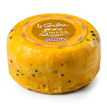 LE GUSTOSE CHEESE WITH BLACK PEPPER AND SAFRON 2 kg