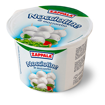 "MOZZARELLA CHERRIES ""NOCCIOLINE"" JAR 250 g (12,5 g each)"